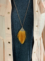 Tassel Necklace Mustard