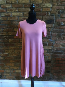 Zenon Tunic Dusty Rose