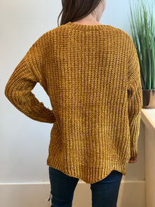 Marley Chenille Sweater, Mustard