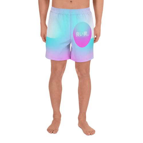 良い男。(Good Man.) Japanese Vaporwave Swim Shorts Home - Good Man