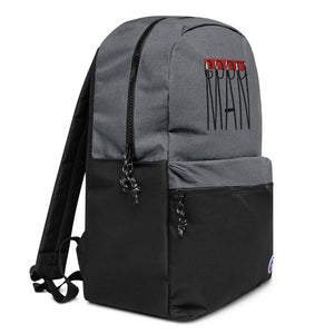 Stressed-Out Embroidered Champion Backpack