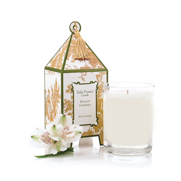 Seda France Elegant Gardenia Candle in Classic Toile Pagoda Box