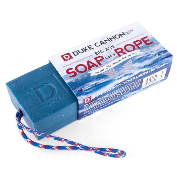 Big Ass Soap On A Rope 10 Oz. , Naval Supremacy Fragrance