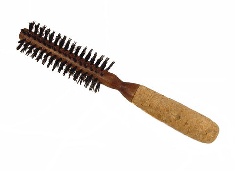 Boyd's round styling brush with cork handle, 1 3/16""