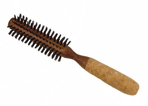 Boyd's round styling brush with cork handle, 1 3/8""