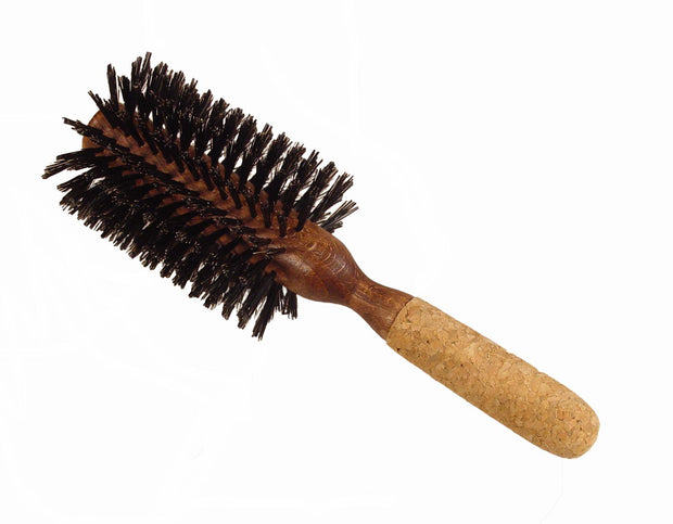 Boyd's round styling brush with cork handle, 3 1/8""