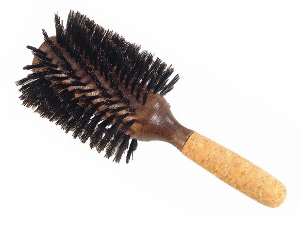 Boyd's round styling brush with cork handle, 4""