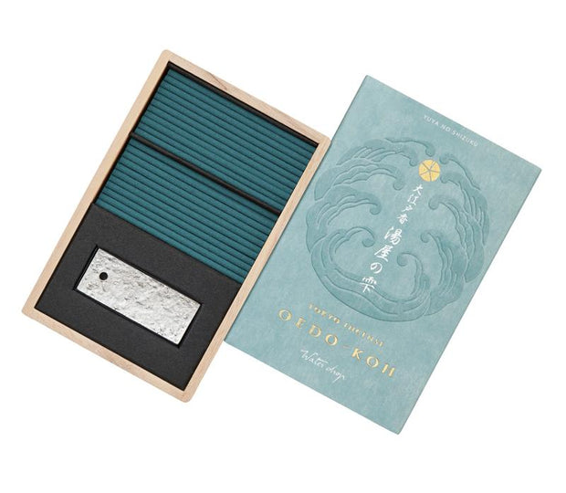 Oedo-Koh Water Drop Japanese Incense in an Aqua Box