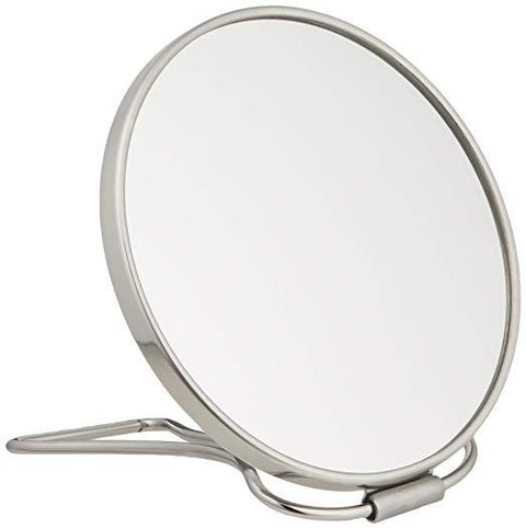 Frasco Double Sided Travel Magnifying Mirror, 7X Magnification , 5 1/4 Inch Diameter