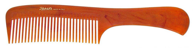 Janeke Tortoise Hair Comb with handle 8.6 inches long