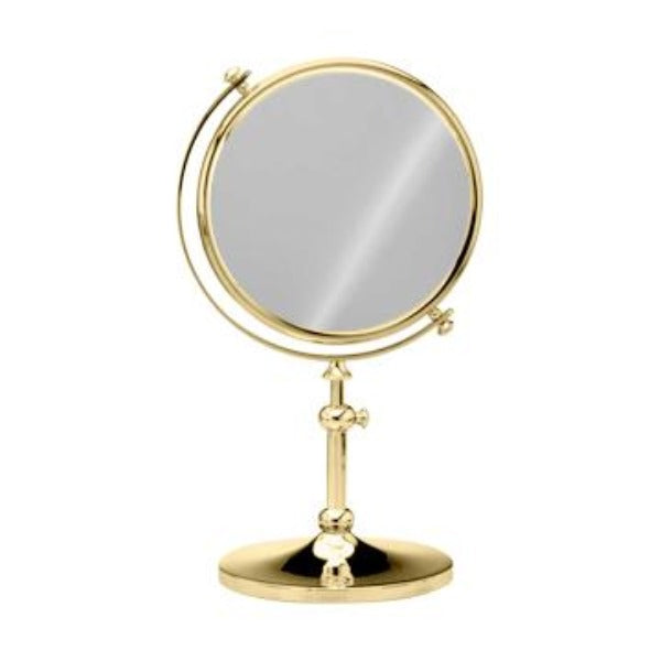 Free Standing, Extensible Round Double Face Mirror
