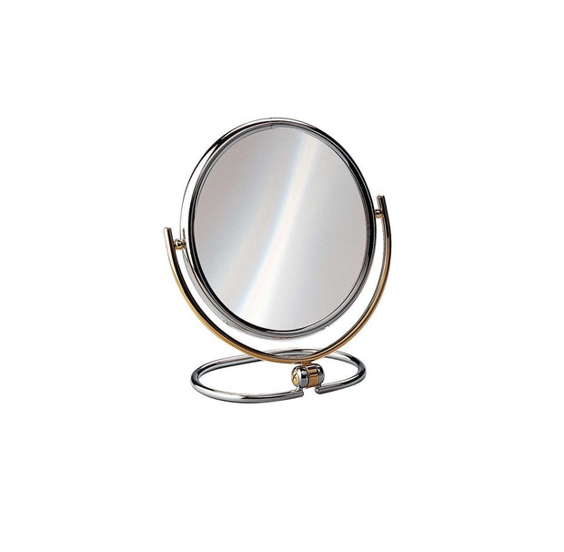 "Large Sized Magnifying Travel Mirror, 7.2"" Diameter"