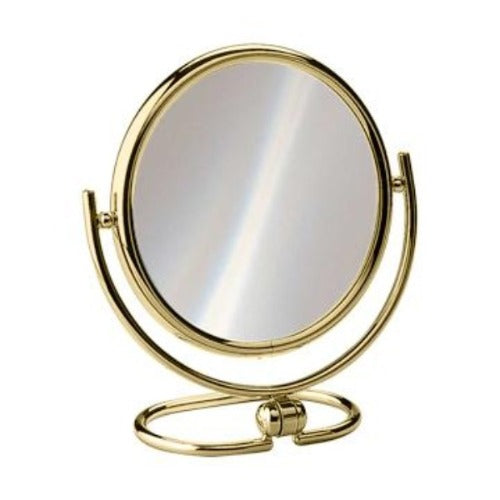 "Medium Sized Magnifying Travel Mirror, 6.5"" Diameter"