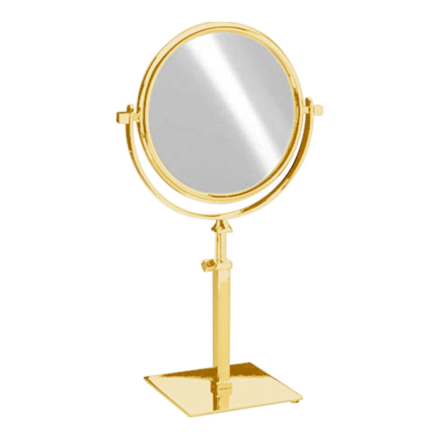 Free Standing Extensible Round Double Face Mirror