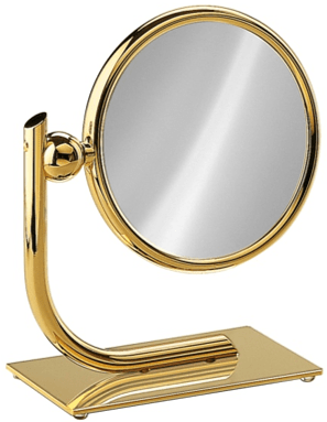 Modern Double Sided Vanity Mirror, 6.5 Inch Diameter - Boyd's Madison Avenue