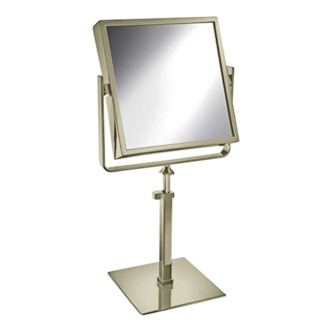 Free Standing Extensible Square Double Face Mirror