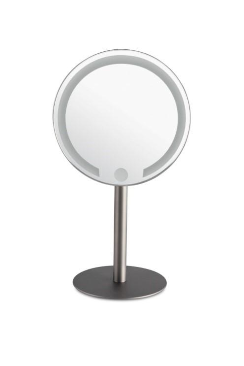 "Lighted Rechargeable LED Vanity Mirror, 7.8"" Diameter - Boyd's Madison Avenue"