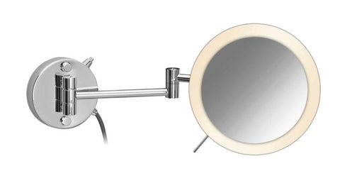 Wall Mounted, Round Extensible One Magnifying Face LED Mirror - Boyd's Madison Avenue
