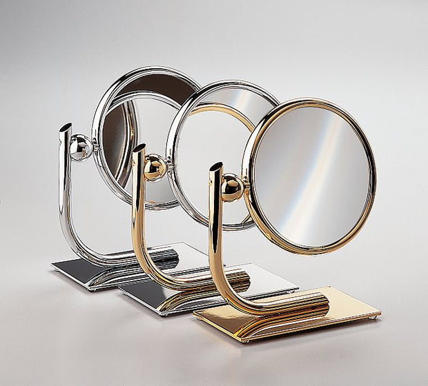 Modern Double Sided Vanity Mirror, 6.5 Inch Diameter