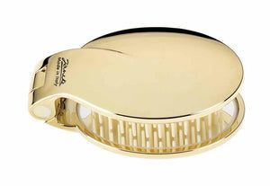 Janeke Golden Folding Hair-Brush with Mirror