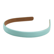"Wardani leather headband 5/8"" aqua"