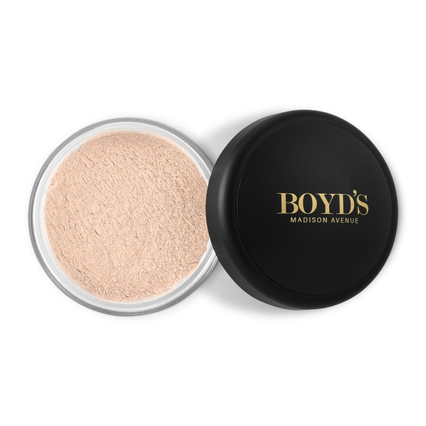 Boyd's translucent loose face powder in medium