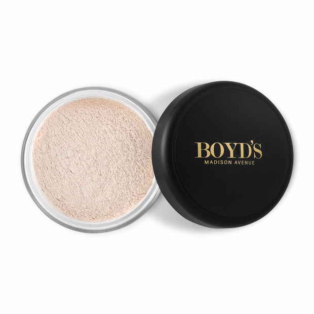 Boyd's translucent loose face powder in light