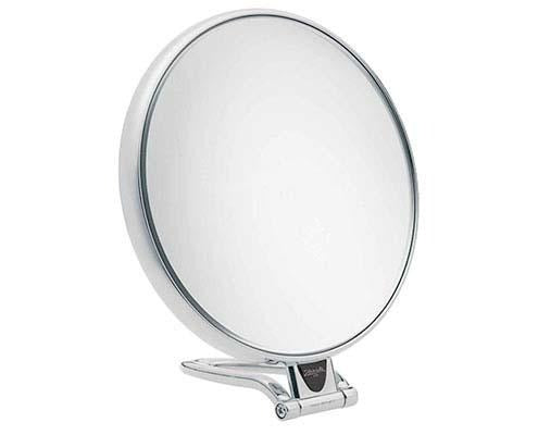 "Janeke Adjustable Travel Makeup Mirror 6X, 6.7"" Diameter"