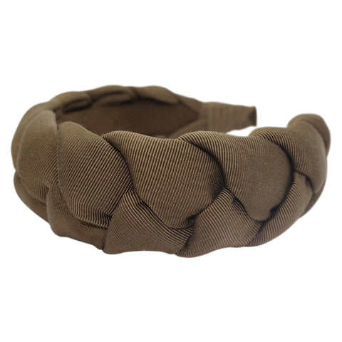 Anna Fashion braid headband grosgrain light brown