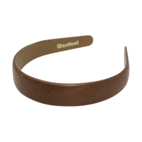 "Wardani Italian Leather Headband 1"" Wide"