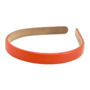 "Wardani leather headband 5/8"" Coral"