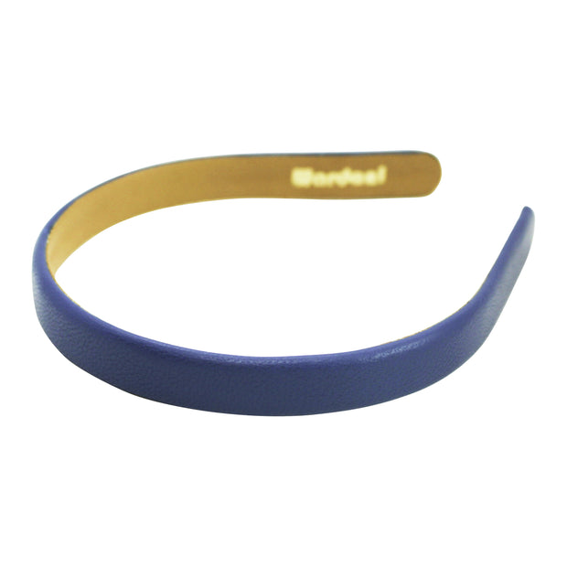 "Wardani Italian leather 5/8"" headband denim"