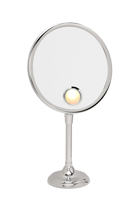 Brot ELEGANCE 24 Spot 9 1/2 Inch Lighted Mirror on Adjustable Pedestal - Boyd's Madison Avenue