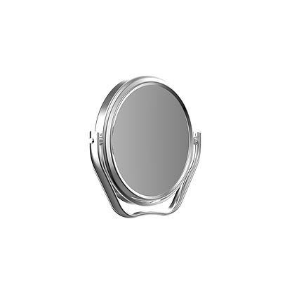 "chrome travel mirror 2.75"" by Frasco with 5X magnification"
