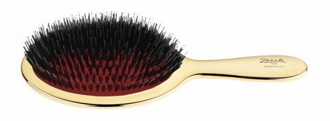 Janeke Large Paddle Brush with Mixed Bristle in Gold