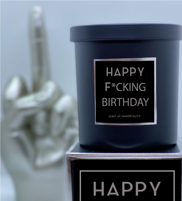 HAPPY F*CKING BIRTHDAY Scented Candle - Boyd's Madison Avenue