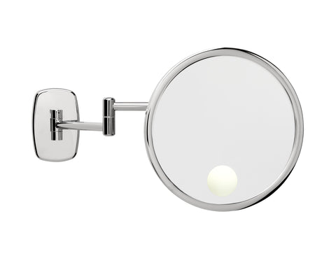 Brot INFINI 24 Spot 9 1/2 Inch Illuminated Wall Mounted Mirror Double Adjustable Arm