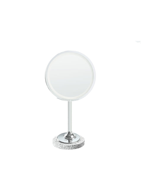 Brot INTEMPOREL Lighted Vanity Mirror on Marble Base, 9 1/2 Inches in Diameter - Boyd's Madison Avenue