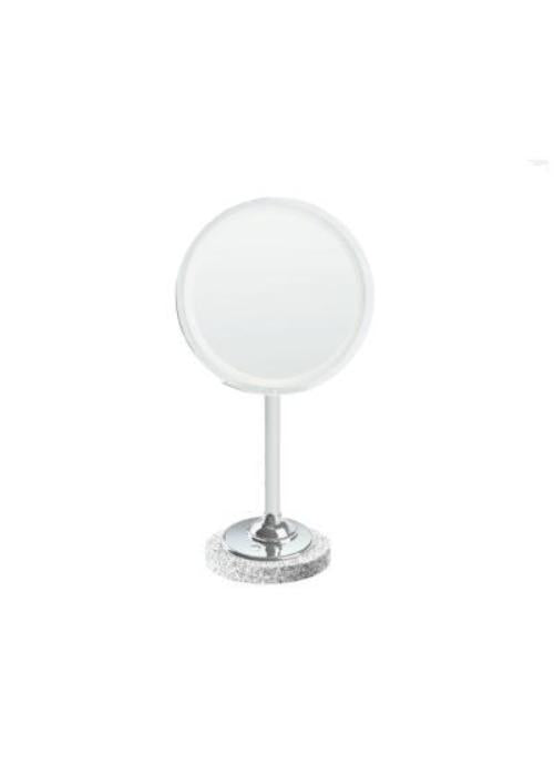 Brot Magnifying Makeup Mirror on a marble base