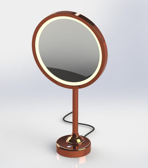 "Brot INTEMPOREL Lighted Magnifying Vanity Mirror, 9 1/2"" in Diameter - Boyd's Madison Avenue"