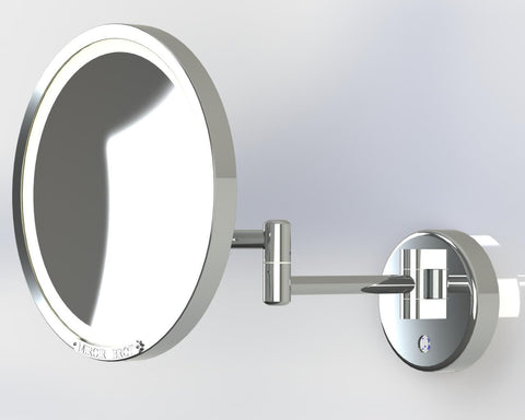 "Brot Intemporel Deprie Wall Mount 2 Arm Swing Mirror  9.5"" Dia. - Boyd's Madison Avenue"
