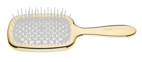 Janeke Golden Rectangular Hairbrush-For Detangling and Styling - Boyd's Madison Avenue