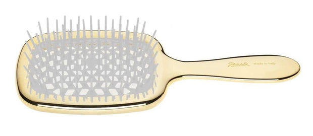 Janeke Golden Rectangular Hairbrush, Blow Drying and Shampoo