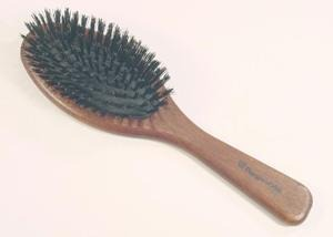 Regincos Black Mixed Bristle Brush For Thick Keratin Treated Hair