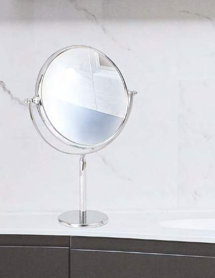double sided mirror pedestal