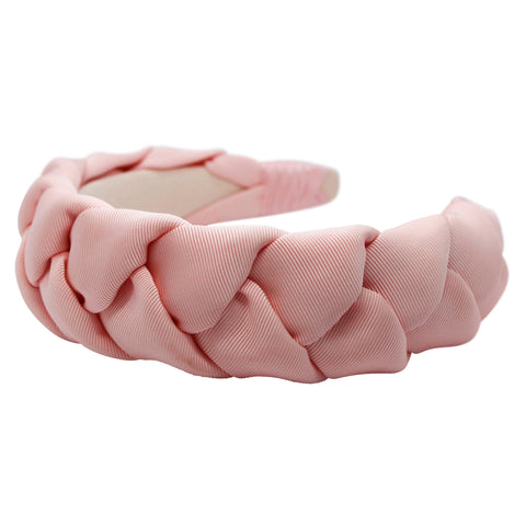 Anna Fashion braid headband grosgrain pink
