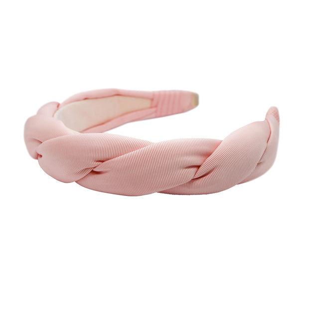 "Anna Fashion grosgrain twist headband 1.5"" wide light pink"