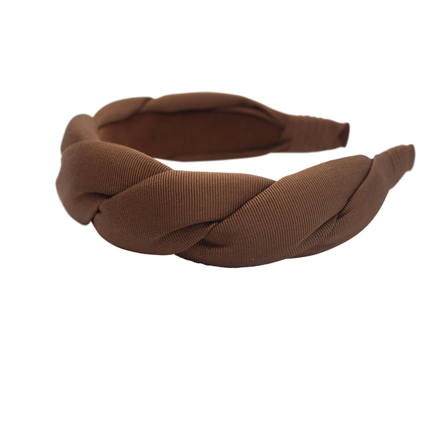 Anna Fashion twist grosgrain headband light brown