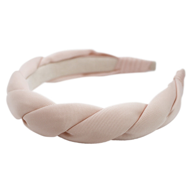 "Anna Fashion grosgrain twist 1"" headband in pink"