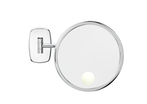 Brot REFLET 24 Spot Illuminated 9 1/2 inch Diameter Wall Mounted Makeup Mirror